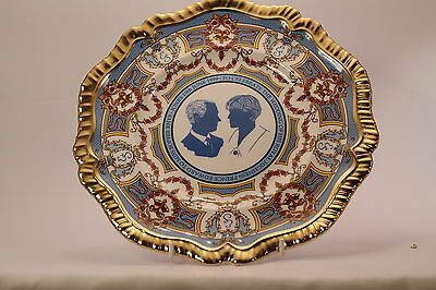 Caverswall Edward and Sophie Marriage Plate Lim Ed 764