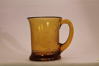 King Geroge V and Queen Mary Silver Jubilee 1935 Glass Mug 701