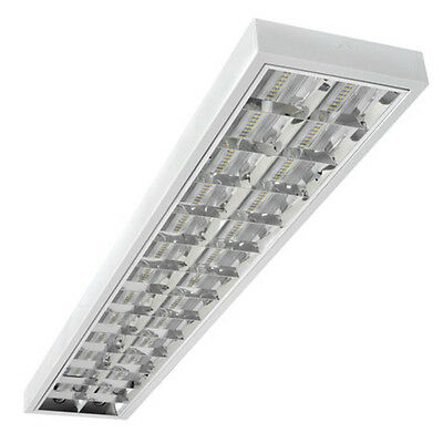 Hit Louvre Luminaire Suitable for 2x LED T8 Grid Ceiling Light
