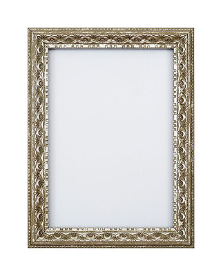 Antique Ornate classic swept Picture frame photo frame poster frame Silver