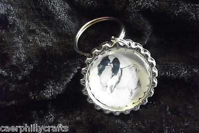 Japanese Chin Keyring by Curiosity Crafts