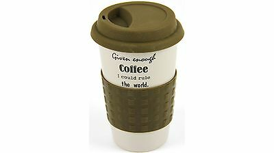 Morganware Double Wall Ceramic Travel Coffee Mug for up to 250ml - Brown