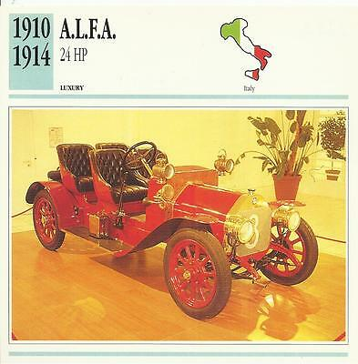 A.L.F.A. 24HP 1910 – 1914 original 2-sided Edito collector's / trading card