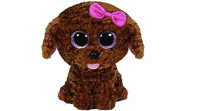 """TY Beanie Boo 6"""" Maddie the Brown Dog Plush Toy Ideal as a Bedroom Display"""