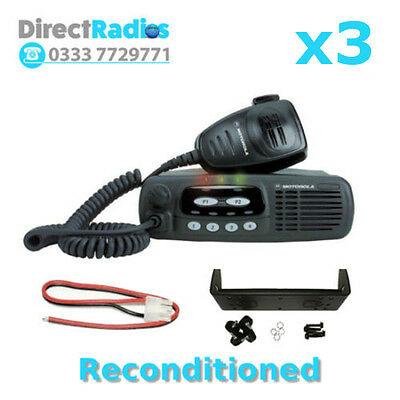 MOTOROLA GM340 VHF 136 - 174 Mhz TAXI MOBILE TWO WAY RADIOS (x3)