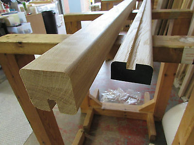 Square Profile Handrail & Base Rail Sets for Glass - Select Timber and Length
