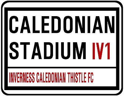 Inverness Caledonian Thistle F.c. Street Sign On Mouse Mat / Pad.