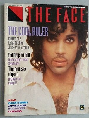 PRINCE THE FACE MAGAZINE SEP 1984 4 page feature