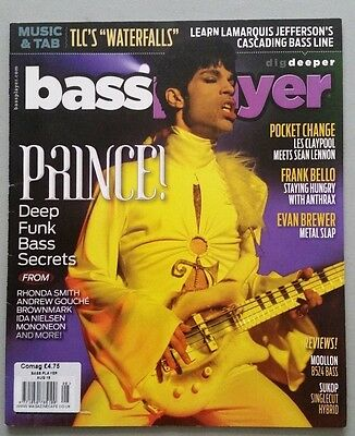 PRINCE BASS PLAYER  MAGAZINE AUG 2016 8 page feature