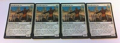 4 x MTG Card - HERALD OF THE FAIR - Kaladesh - NEW