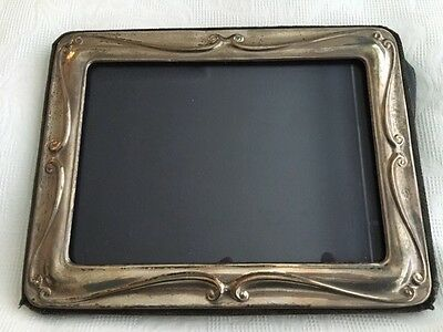 Silver Picture Surround over a Fabric Covered Frame, Hallmarked London 1987