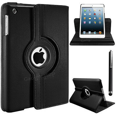 Leather 360 Rotating Smart Stand Case Cover For APPLE iPad2/3/4