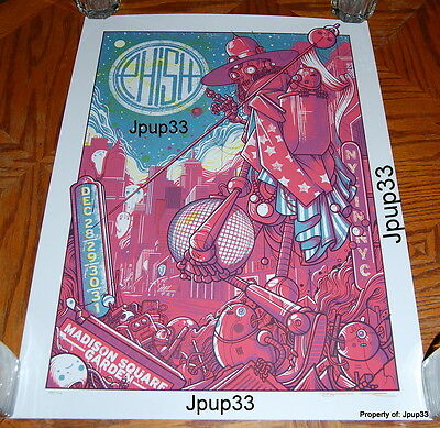 Phish Nye 2016 Nyc Msg Drew Millward Poster Red + Blue Variant #'d/700 Sold Out