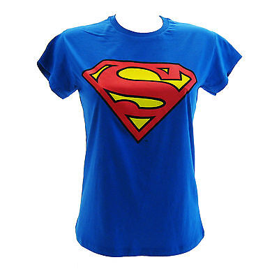 T-Shirt Superman Blu Royal Donna