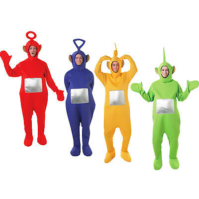 Adult Teletubbies Costume Rubies All In One Mens Women Fancy Dress Onesie Outfit