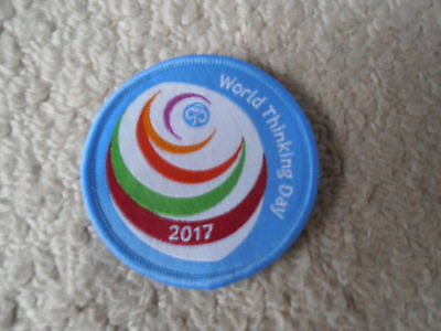 Girl Guiding - World Thinking Day 2017 Badge - New - Brownies Guides Rainbows