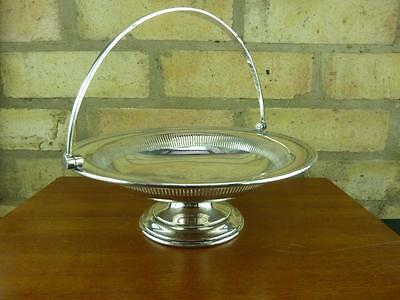 A Lovely Vintage Mappin & Webb pedestal serving tray bowl Silver plated