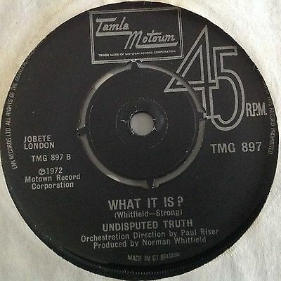 Undisputed Truth-What It Is/help Yourself-Uk Tamla Motown Tmg 897. Vg+