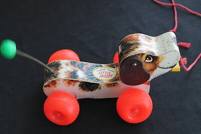 vintage Fisher Price dog puppy pull toy