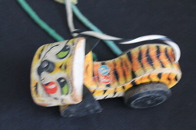 vintage Fisher Price tiger pull toy