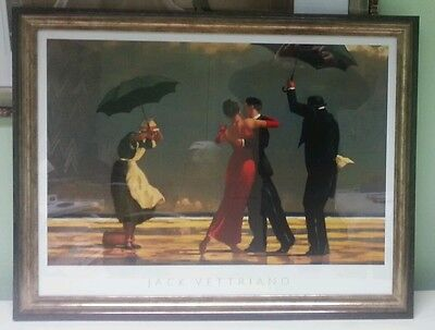 """Big!! 35""""x27"""" The Singing Butler by Jack Vettriano Deluxe Framed Print"""