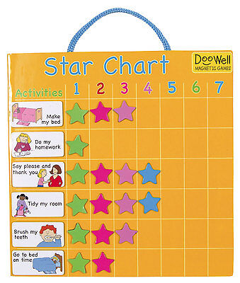 Fiesta Crafts Magnetic Star Chart - Rewarding Good Behaviour - NEW