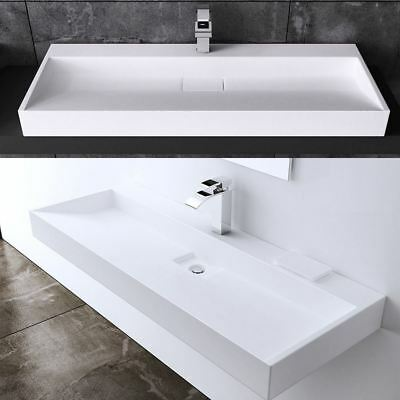 Durovin Stone Rectangle Basin Sink Wall Hung Shelf Or CounterTop Pure Luxury New