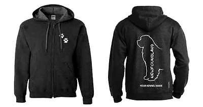 Newfoundland Full Zipped Dog Breed Hoodie, Exclusive Dogeria Design,