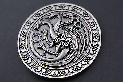 Game Of Thrones Dragon Targaryen Metal Belt Buckle Fire And Blood