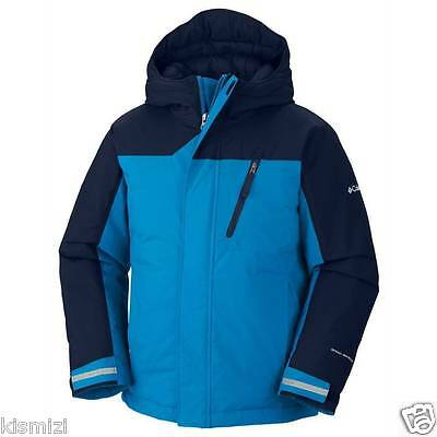 "$95 New Columbia Boys ""Snowbank"" Omni-Shield Insulated Hooded Winter Jacket"