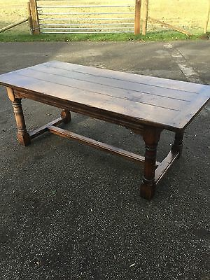 Eight Seater Solid Oak Refectory Table