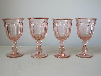 Imperial Old Williamsburg Peach (Pink) Wine Glasses, Set of (4)