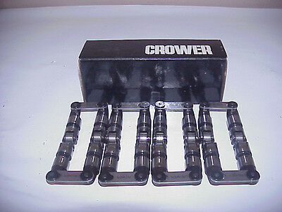 """Crower SB Chevy #66292X874H-16 Solid Roller Lifters  .874"""" With Hippo Option"""