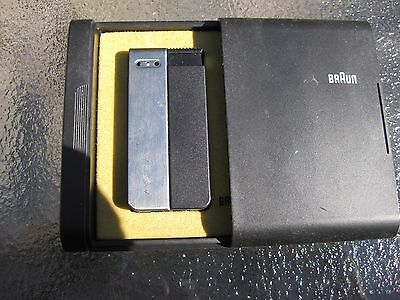 Vintage-BLACK-BRAUN 2-Pocket-Lighter-DUO GAS  MADE IN W GERMANY CONDITION NEW