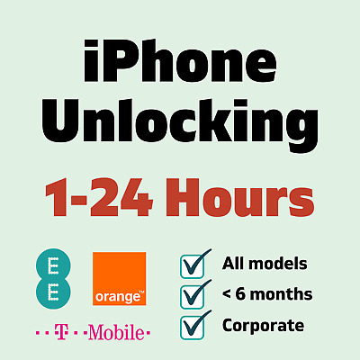 Unlock Service For EE Orange T-Mobile iPhone 4 4S 5 5S 5C 6 6+ 6S 6S+ Plus SE
