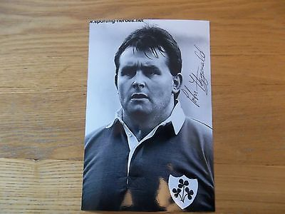 John Fitzgerald, Ex Ireland Rugby Player, Signed 6 X 4 Photo