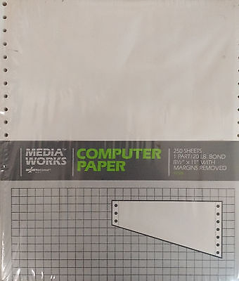 Media Works Continuous-Feed Computer Paper - 250 sheets
