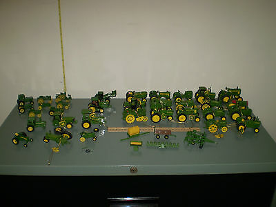 John Deere Tractors Lot of 33 Christmas Tree Ornaments and Die Cast Miniatures