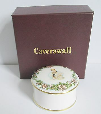 Caverswall Her Majesty Queen Elizabeth The Queen Mother Trinket Box.  England.