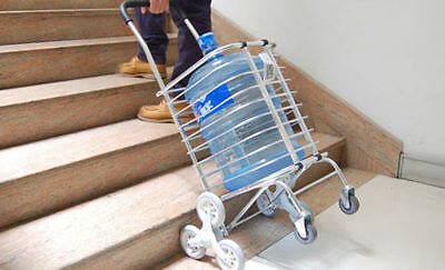 Urban Stair Climbing Cart 8 Wheels Folding Shopping Handcart Rolling W/ Bag