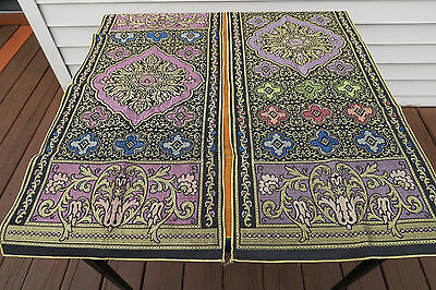 TWO  (2)  VINTAGE Matching 1920's BUFFET * TABLE * RUNNERS * DOILY *