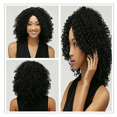 Women Kinky Afro Curly Wig Synthetic Hair Heat Resistant Hair Wig TOP Quality