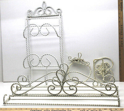 5 Antique Twisted Steel Wire Outdoor Shower Set Toilet Paper Holder+Towel Racks