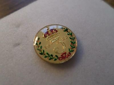 Vintage Antique Enamelled Silver 3D Threepence Coin 1922. Great Gift Lucky Charm