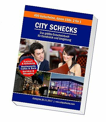 City Cheques 2016/17 - the largest coupon book for Osnabrück und Environment