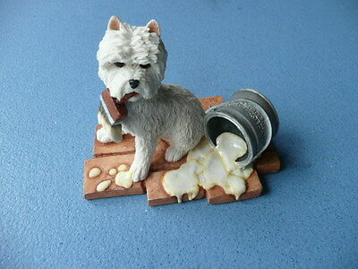 Westie West Highland White Terrier With Paint Pot/brush By Sherratt And Simpson