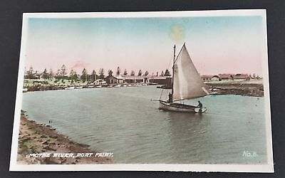 Vintage Port Fairy Photograph of the The Moyne River Colored