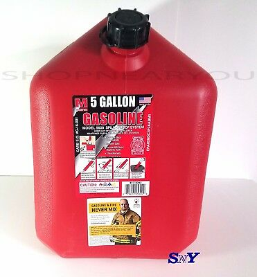 MIDWEST CAN COMPANY 5 Gallon Gas Can Gasoline Canister barrel