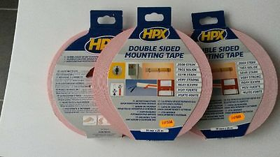 HPX DOUBLE SIDED MOUNTING TAPE 19mm x 25M