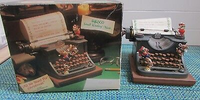 ADORABLE Enesco Musical Society All we Want for Christmas Mice Letter to Santa